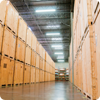 Moving company storage warehouse