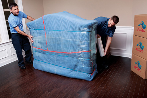Our movers then pad wrap all of your furniture.