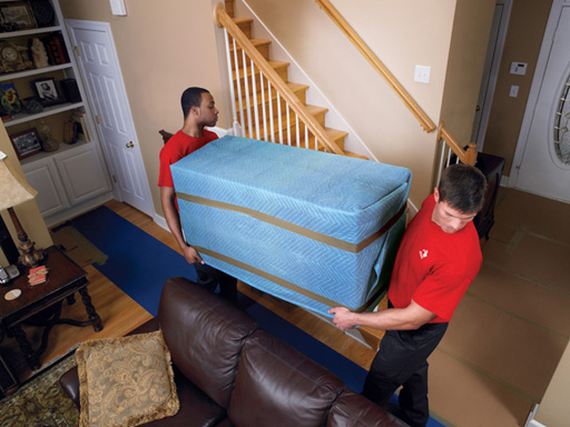 All Furniture Is Protected With Heavy Duty Moving Pads