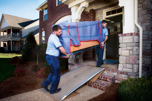Your furniture is then carried to our moving truck to be loaded.