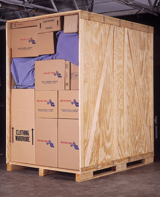 After arriving at our warehouse your household goods are loaded into our warehouse storage safety vaults