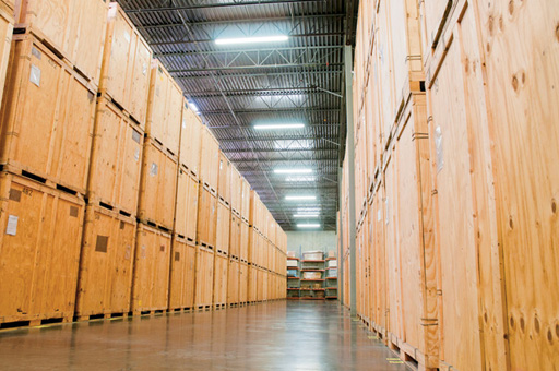 Your storage vaults are then held in our warehouse until you call for them to be delivered