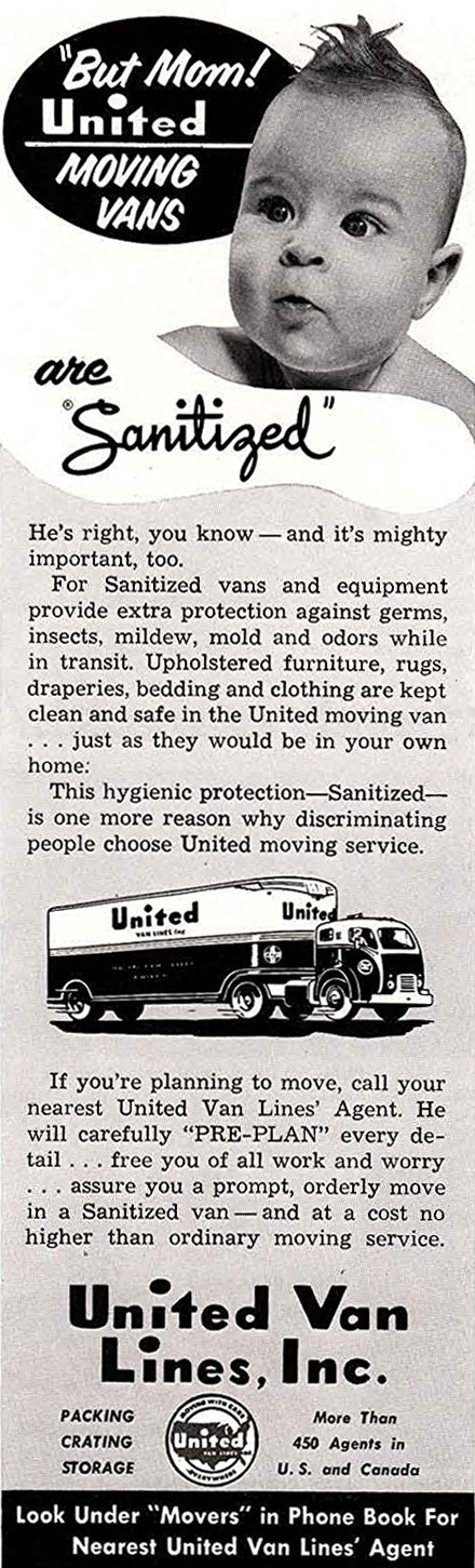 Sanitze moving van