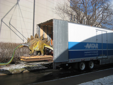 Robotic dinosaur exhibit move 5