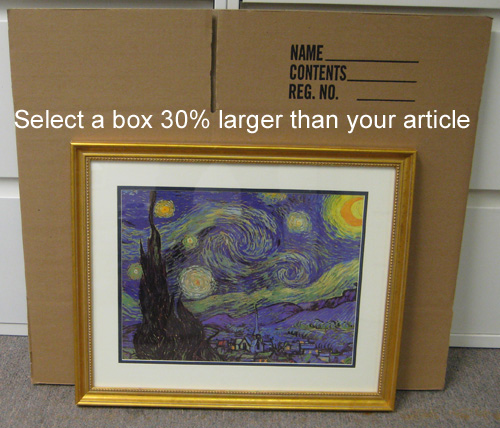 Select a box 30% larger than your picture, mirror or glass top