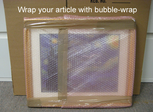 Wrap article in bubble-wrap