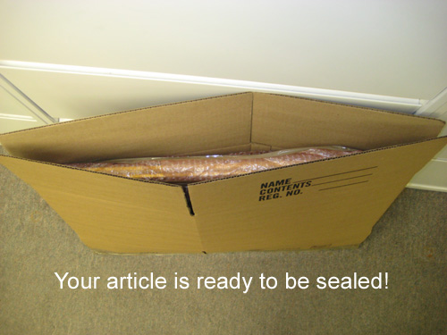 Your article is ready to be sealed