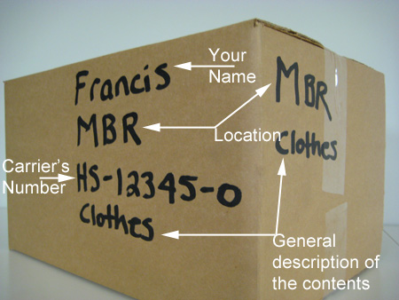 Marking and labeling a moving box