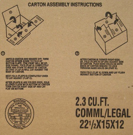 Carton Instructions