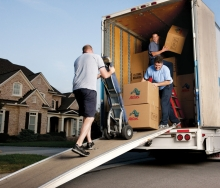 Atlas movers unloading household goods