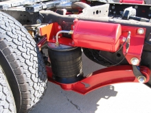 All of our trucks are equipped with air-ride suspension for the safest ride possible