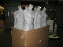 mannequins ready to be delivered to a downtown Manhattan store