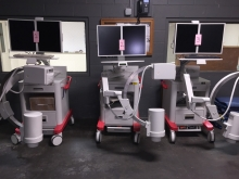 Medical equipment staged at our warehouse for local delivery