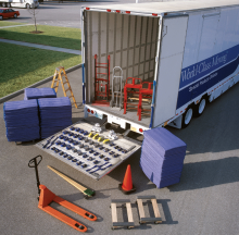 The standard equipment carried on our air-ride special projects trailers