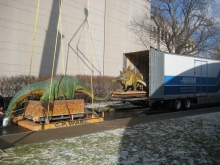 Moving a robotic dinosaur exhibit (Stage 1)