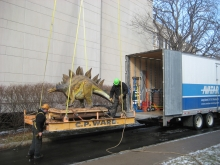 Moving a robotic dinosaur exhibit (Stage 2)