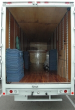 One of our moving vans, cleaned and ready to perform a move