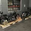 Motorcycles in Avatar storage for eventual interstate transport
