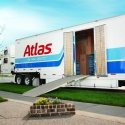 Atlas household goods trailer readied for loading at the customer's residence