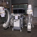 C-arm radiology equipment being stored in our warehouse