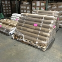 Skids of finished goods placed into temporary storage at our warehouse