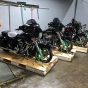 Motorcycles stored at our Long Island Warehouse