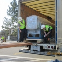 Moving a sensitive research machine at West Point Military Academy