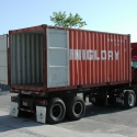 20-foot steel overseas container