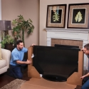 Packing a flat screen television