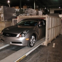 We store vehicles such as this new model auto flown in from Japan for the New York auto show