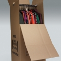 A standard mover's wardrobe box