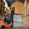 Puting household safety vaults away in our Long Island warehouse